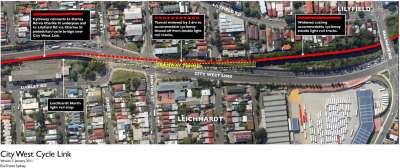 City West Cycle Link - Lilyfield Rail Cutting